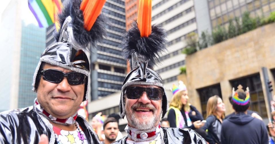 3.jun.2018 - Público vai fantasiado para a 22ª Parada do Orgulho LGBT que acontece neste domingo (3) em São Paulo