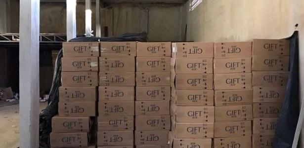 Polícia aprendeu 500 caixas de cigarros em março; a carga foi avaliada em R$ 500 mil - Divulgação/Polícia Civil