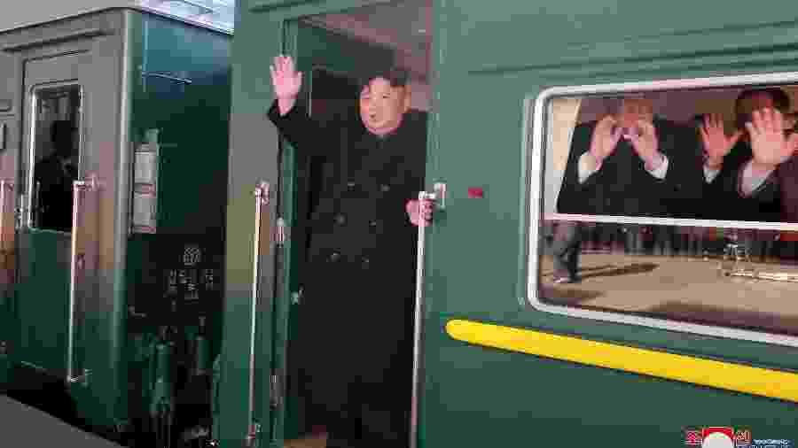 O líder norte-coreano Kim Jong Un, que se encontra com o presidente dos EUA, Donald Trump, esta semana - Divulgação
