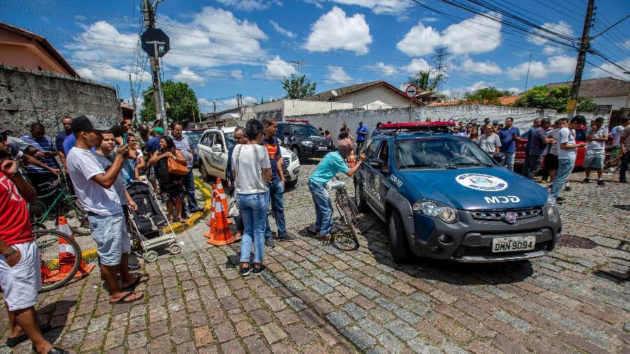 Movimentação após tiroteio ocorrido na Escola Estadual Raul Brasil de Suzano, em Suzano - Suamy Beydoun/Agif/Estadão Conteúdo