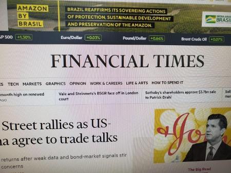 Governo brasileiro erra grafia em inglês em propaganda oficial no exterior  - 06/09/2019 - UOL Notícias