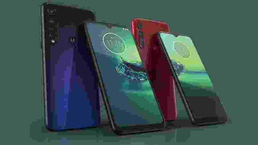 Moto G8 Plus e Moto G8 Play - Divulgação