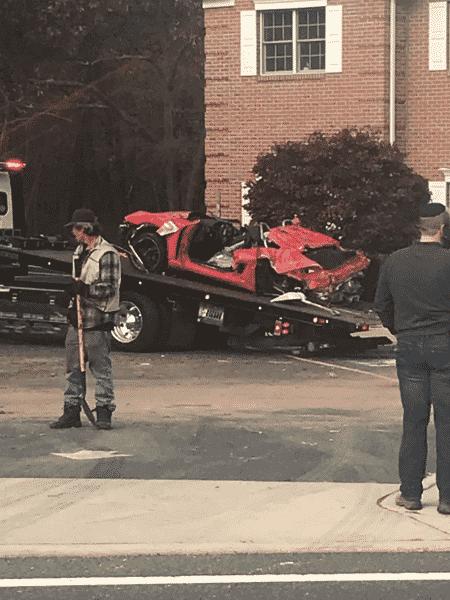 Porsche fica destruído após acidente nos Estados Unidos - Reprodução/Twitter - Reprodução/Twitter
