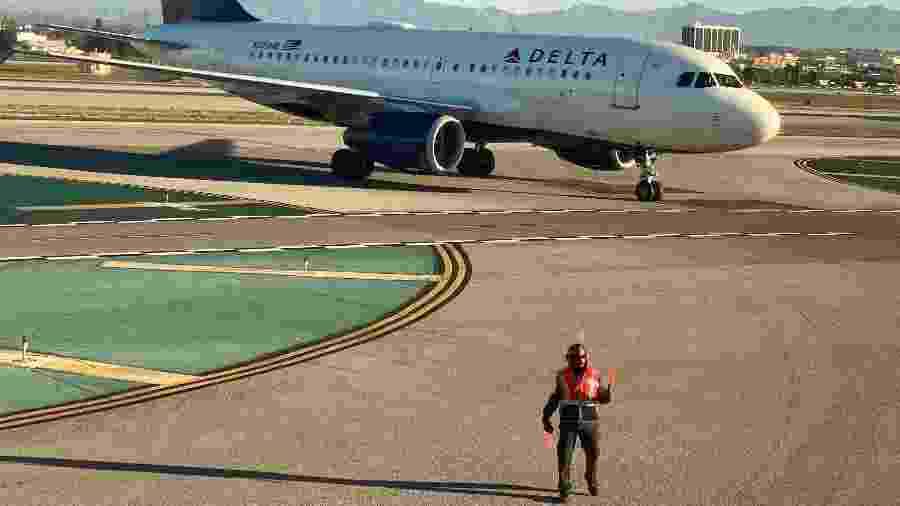 Avião da Delta Air Lines em Los Angeles, nos Estados Unidos - REUTERS/Lucy Nicholson