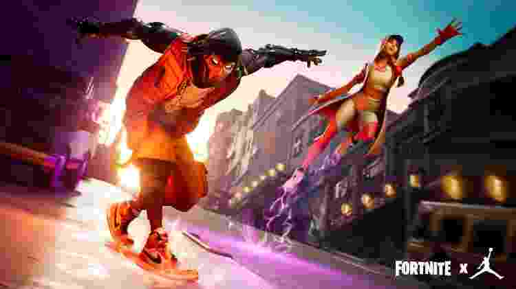 Clássicos como o Air Jordan 1 ganharam sua versão dentro do game Fortnite - Divulgação