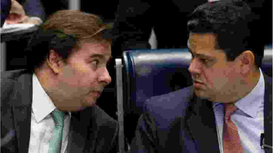 Rodrigo Maia e Davi Alcolumbre - Foto: Dida Sampaoio/AE
