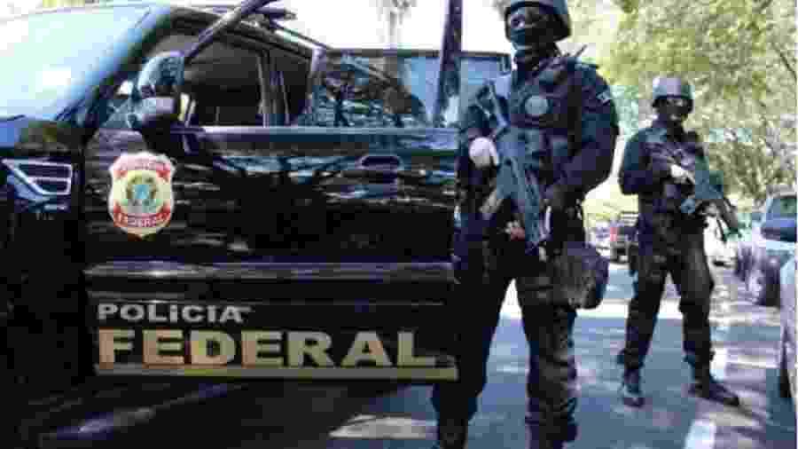 Agentes armados da Polícia Federal - Reprodução