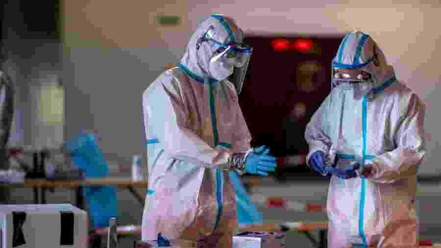 O aumento de casos na cidade de Gutersloh se deve a um surto em uma fábrica de carne  - Getty Images
