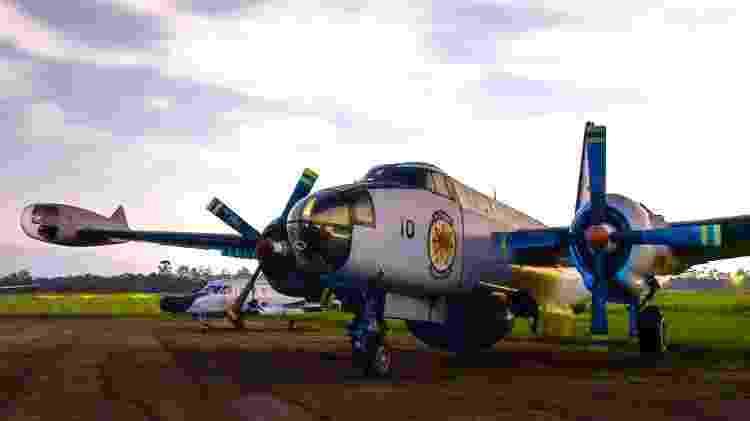 Avião de patrulha marítima Lockheed P-2 Neptune da FAB, que foi utilizado na busca a submarinos inimigos - Divulgação/Força Aérea Brasileira  - Divulgação/Força Aérea Brasileira