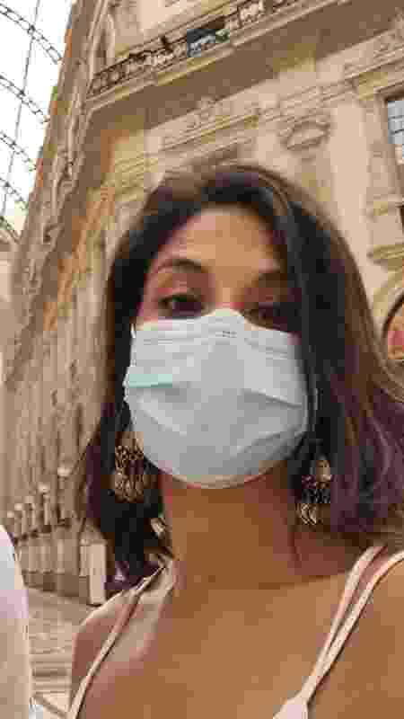 Carolina Torres em Milão - Arquivo pessoal - Arquivo pessoal