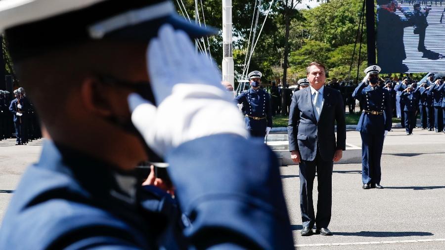 Bolsonaro em cerimônia da Aeronáutica, em janeiro - Alan Santos/PR
