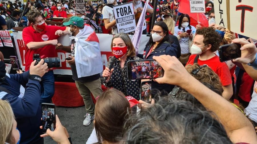 Manifestação do PT na Avenida Paulista  - Leonardo Martins/UOL