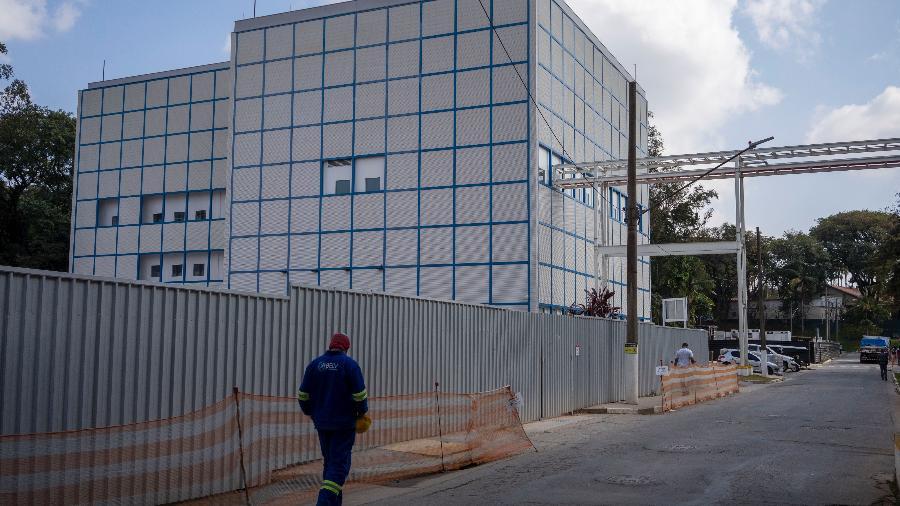 Um dos prédios da nova fábrica de vacinas do Instituto Butantan - Andre Porto/UOL