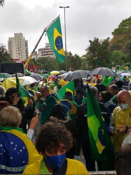 Em Porto Alegre, ato a favor de Bolsonaro se concentrou no Parque Moinhos de Vento - Reprodução/Redes Sociais