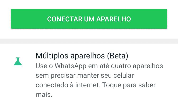 Tela do WhatsApp no Android com o alerta sobre a mudança - Tilt - Tilt