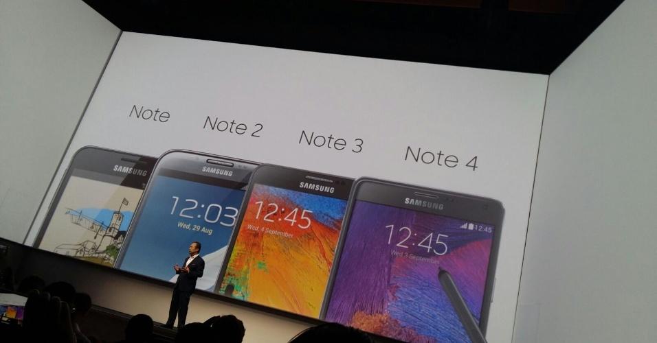 13.ago.2015 - A Samsung lançou oficialmente nesta quinta-feira (13) dois smartphones de tela grande da série Galaxy --S6 Edge Plus e Note 5