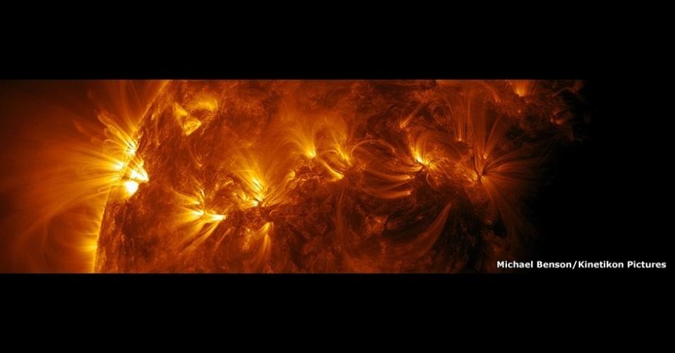Uma exposição no Museu de História Natural de Londres, no Reino Unido, reúne impressionantes imagens em close dos nossos vizinhos mais próximos do Sistema Solar