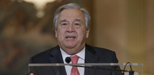 António Guterres, apontado como novo secretário-geral da ONU, fala a jornalistas em Lisboa (Portugal)