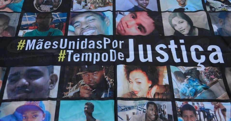 Protesto contra violência policial em favelas do Rio