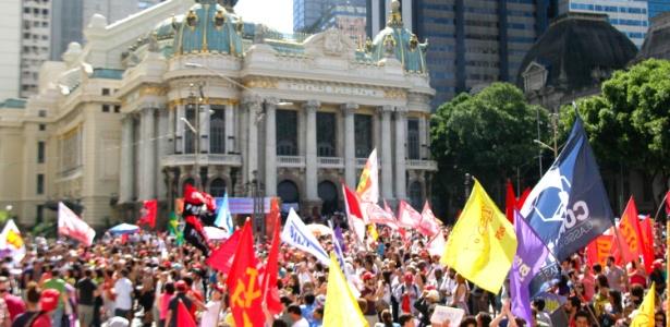 Protesto no Dia do Trabalho no Rio de Janeiro