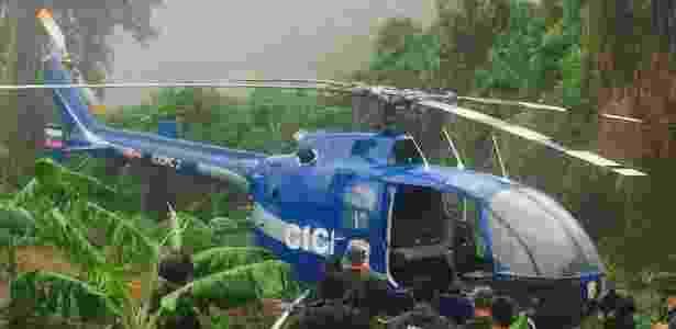 28.jun.2017 - O helicóptero que teria sido usado no ataque contra o Tribunal Supremo da Venezuela - Twitter/Reprodução