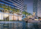 Marca de carros de luxo lança condomínio em Miami com 'garagem' para iate (Foto: Divulgação)