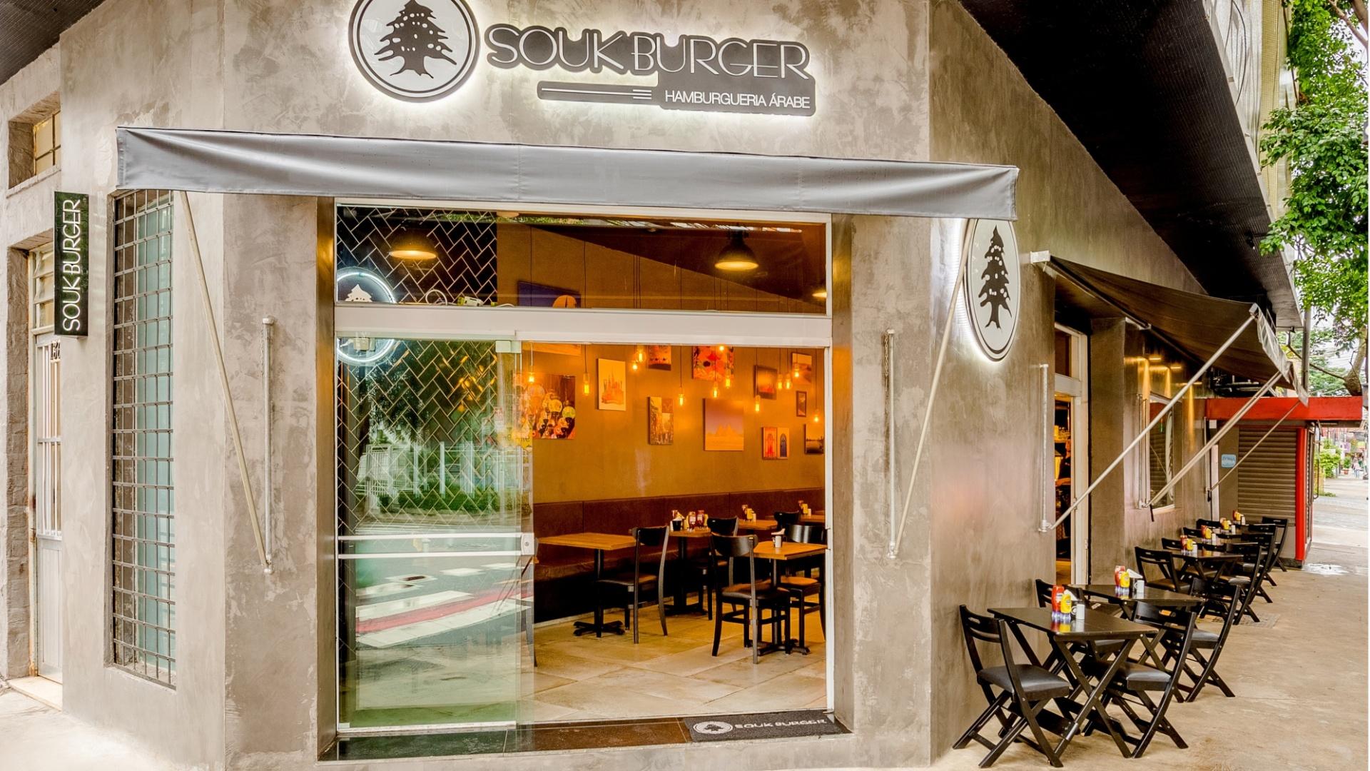 Souk Burger fachada da unidade em Pinheiros