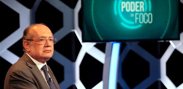 O ministro Gilmar Mendes foi entrevistado no programa Poder em Foco, no SBT