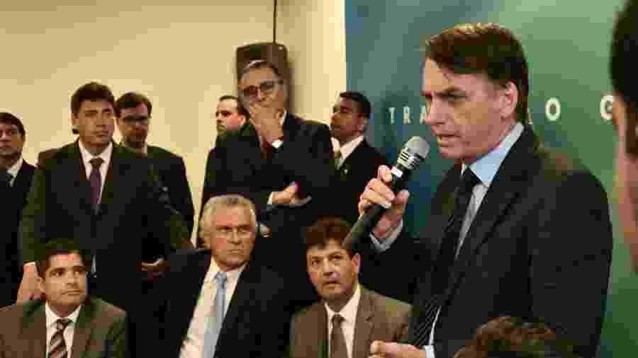 12.dez.2018 - Bolsonaro durante encontro com a bancada do DEM - Rafael Carvalho/Divulgação
