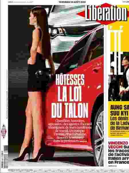 """Jornal francês Libération destaca a chamada """"lei do salto alto"""" em edição de hoje - Reprodução"""