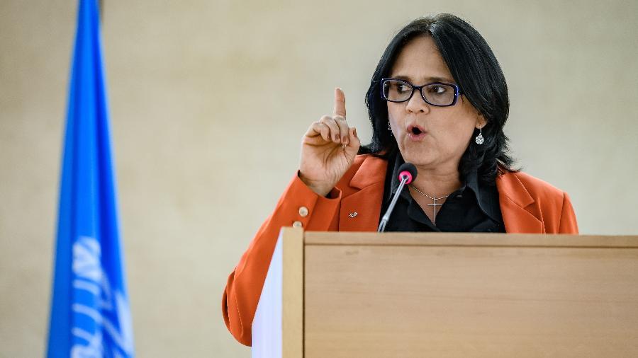 Damares Alves no Conselho de Direitos Humanos da ONU - Fabrice Coffrini / AFP