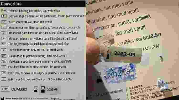 Roberts remove as datas de validade da embalagem de uma máscara - BBC - BBC