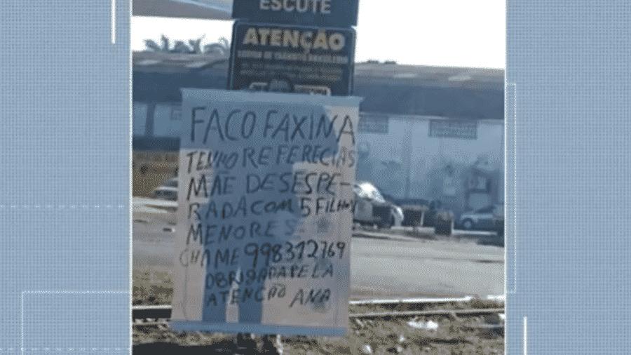 Ana Lúcia Ribeiro pediu ajuda em um semáforo em Criciúma (SC) - Reprodução NSC TV