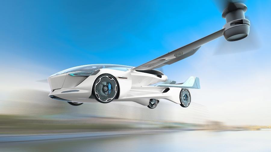 Concepção artística do modelo de carro voador da Aeromobil - Aeromobil.com