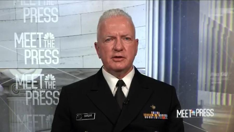 Almirante Brett Giroir disse que não há prova de que a cloroquina ajuda no tratamento de covid-19 - Reprodução/NBC