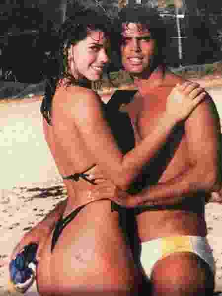No Havaí, em 1987: a pantera e o traficante internacional - Arquivo Pessoal/Reprodução - Arquivo Pessoal/Reprodução