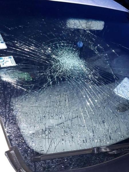 Homem quebra vidro de carro da Secretaria Municipal de Saúde de Pirenópolis após discussão - Divulgação/Polícia Civil