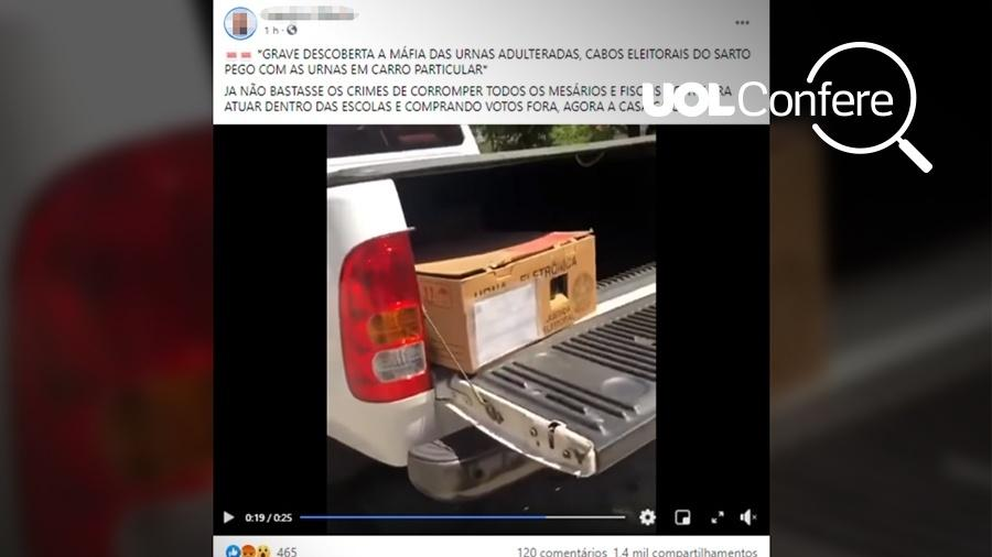 Informação falsa sobre urna eletrônica em Fortaleza teve mais de 1,4 mil compartilhamentos  - Arte/UOL