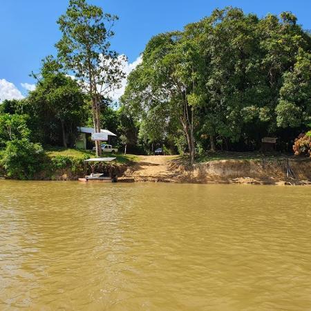 Sede do ICMBio na Estação Ecológica de Maracá (RR) foi alvo de ataque armado - Divulgação para o UOL