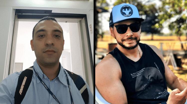 Renato Bortolucci (à esq.) e o professor de educação física Márcio Victor, mortos em Araçatuba - Reprodução Facebook e Instagram - Reprodução Facebook e Instagram