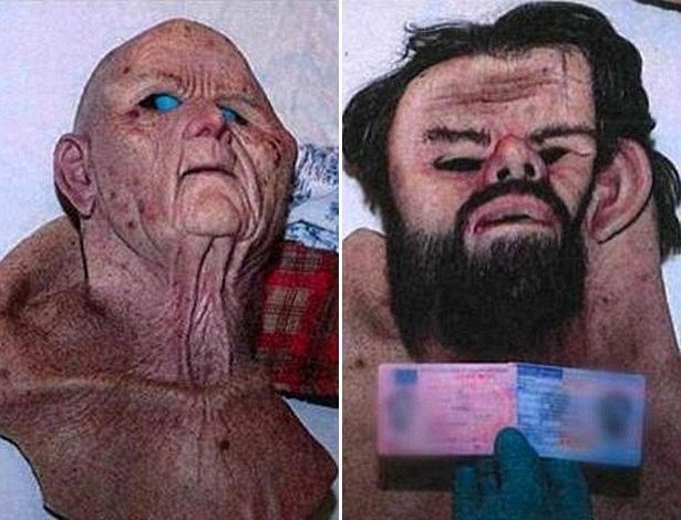 Máscaras usadas para raptar a vítima