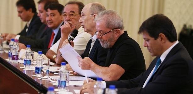 Na segunda (15), Lula se reuniu com o chamado Conselho Político do PT