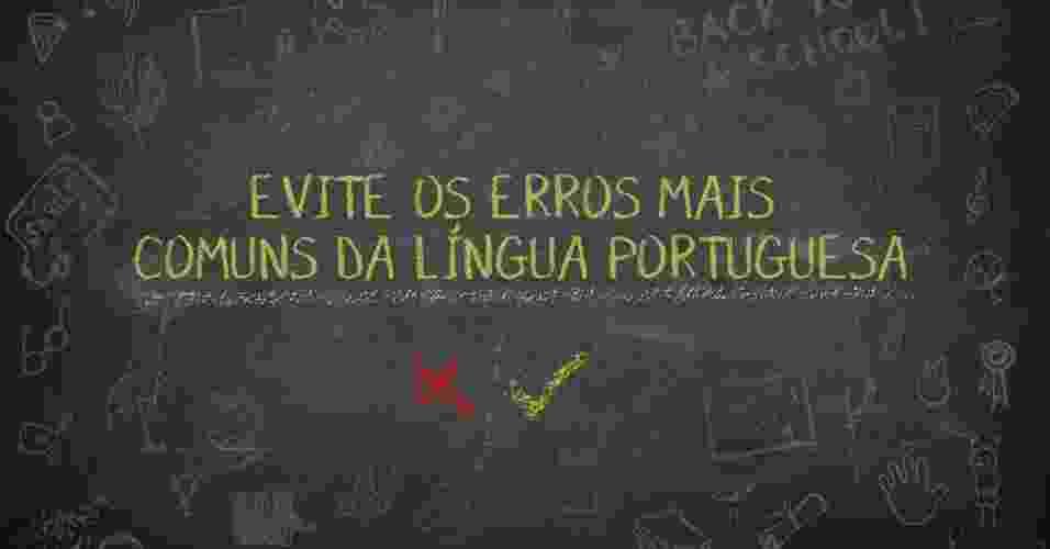 """FAZ dez dias ou FAZEM dez dias? O livro é para MIM ou para EU ler? Os falantes da língua portuguesa precisam ter muito cuidado com as """"pegadinhas"""" do idioma. Pensando nisso, o UOL separou alguns dos erros mais frequentes, segundo o livro """"Os 300 erros mais comuns da língua portuguesa"""", de Eduardo Martins, publicado pela Barros Fischer & Associados. Confira e não erre mais! - Arte UOL"""