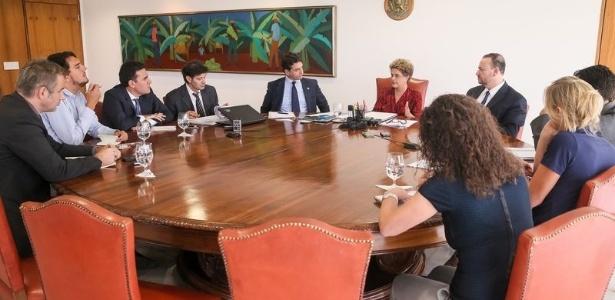 A presidente Dilma concede entrevista a jornalistas internacionais sobre o processo de impeachment