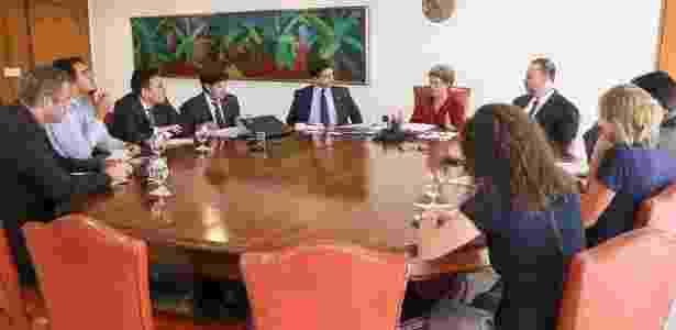 A presidente Dilma concede entrevista a jornalistas internacionais sobre o processo de impeachment - Roberto Stuckert Filho/Presidência da República