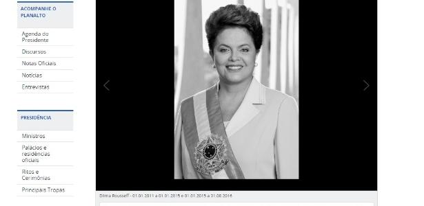 Dilma é incluída na galeria de ex-presidentes no site do Palácio do Planalto - Reprodução/Site Palácio do Planalto