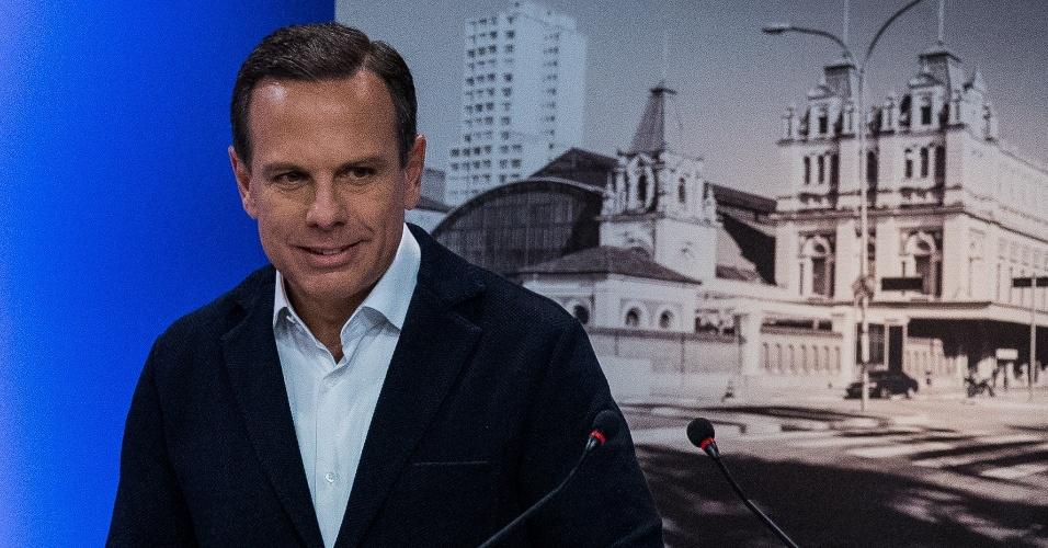 18.set.2016 - João Doria Jr. (PSDB) participa de debate com candidatos a prefeito em São Paulo promovido pela TV Gazeta, Estadão e Twitter