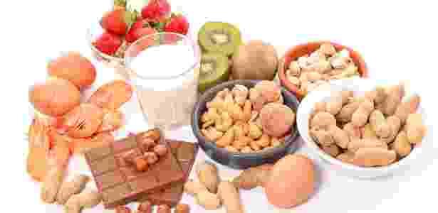 Morango, kiwi, leite e castanhas estão entre os alimentos causadores de alergia - Getty Images/iStockphoto
