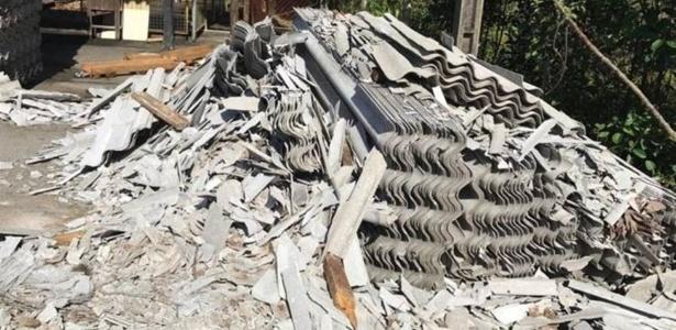 Inspeção em fábrica baiana encontrou telhas de amianto quebradas oito dias antes de julgamento sobre o tema no STF