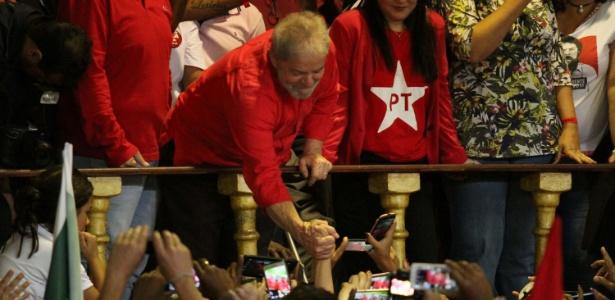 Lula participou de evento da CUT na quadra do Império Serrano, no Rio
